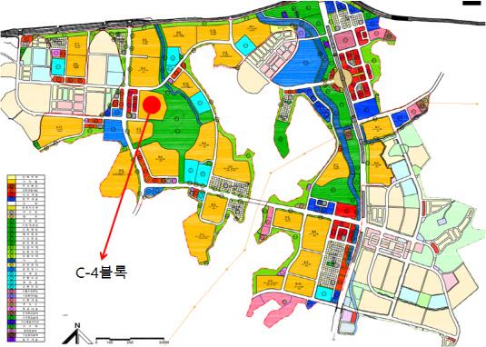 시흥 장현지구 C-4블록 위치