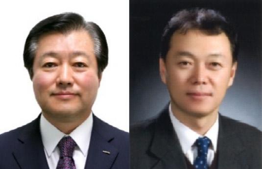 이영구 음료부문 대표와 김태환 주류부문 대표(왼쪽부터)