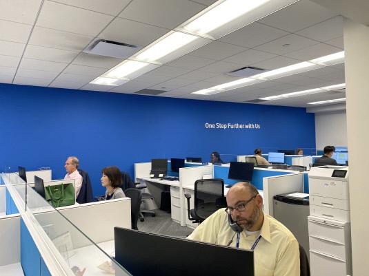 우리아메리카은행 사무실.