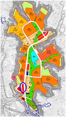 대장지구 토지이용계획도