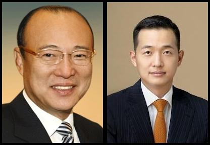(왼쪽부터) 김승연 한화그룹 회장, 김동관 한화솔루션 부사장.