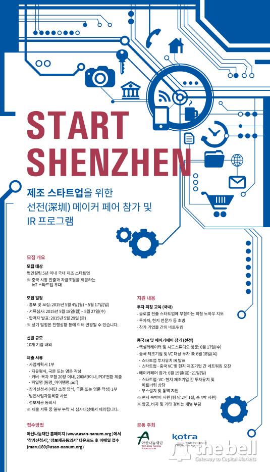 [보도자료 첨부파일] Start-Shenzhen-모집공고 포스터