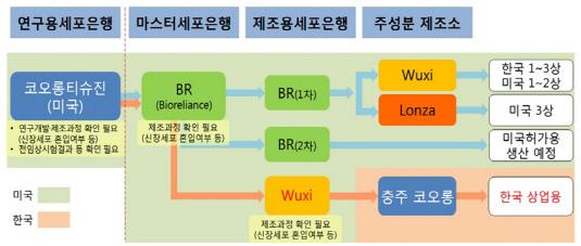 인보사 형질전환세포 제조공정 흐름도_20190415(수정본)