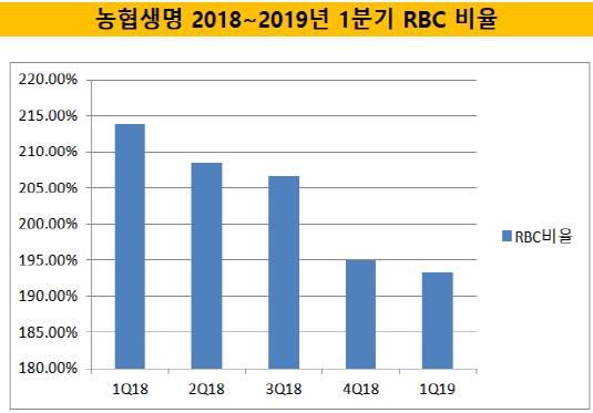 농협생명 1분기 RBC비율'